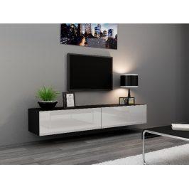 CAMA Televizní stolek VIGO, černá/bílý lesk