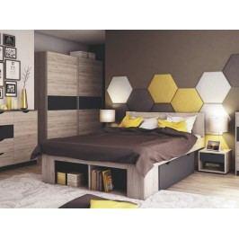 Smartshop ROMA ložnice, dub/šedá