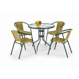 Halmar Stůl GRAND 80, tmavě zelený
