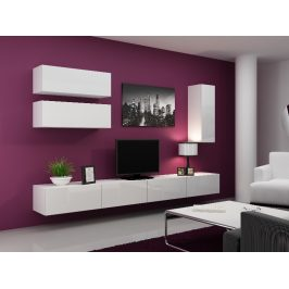 Obývací stěna VIGO 13, bílá/bílý lesk