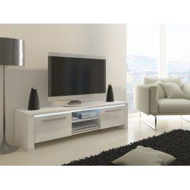 MORAVIA FLAT TV stolek HELIX, bílá/bílý lesk Stolky pod TV