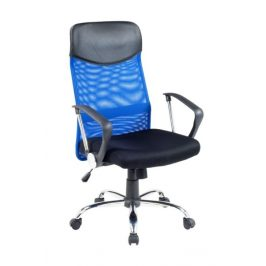 Kancelářské křeslo VIRE, černá/modrá Kancelářská křesla