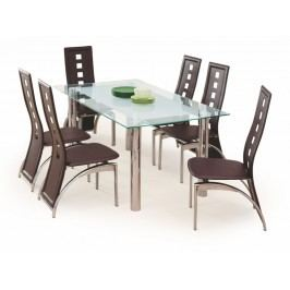 Halmar jídelní stůl BOND, kov/sklo