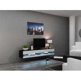 CAMA Televizní stolek VIGO NEW, černá/bílý lesk Stolky pod TV