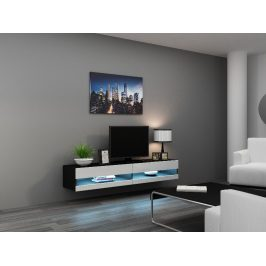 CAMA Televizní stolek VIGO NEW, černá/bílý lesk