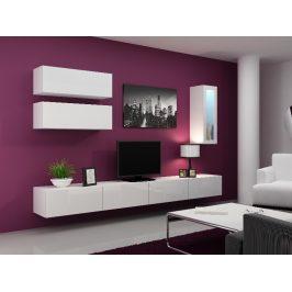 Obývací stěna VIGO 12, bílá/bílý lesk