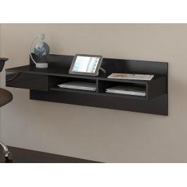 Designový psací stůl UNO, černá/černý lesk