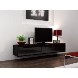 CAMA Televizní stolek VIGO, černá/černý lesk Stolky pod TV