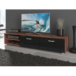 MAGIC MAG-03, RTV stolek dlouhý, švestka/černý lesk Stolky pod TV