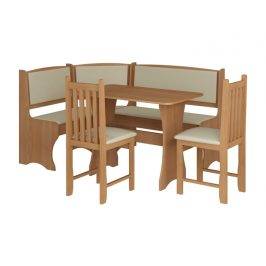 Jídelní rohový set se židlemi B, barva: ... Jídelní sety