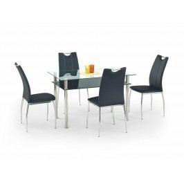 Halmar Jídelní stůl LESTER 120, kov/sklo