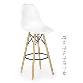 Barová židle ZH-51, bílá