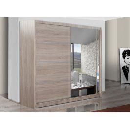 Šatní skříň s posuvnými dveřmi VISTA 203, dub sonoma
