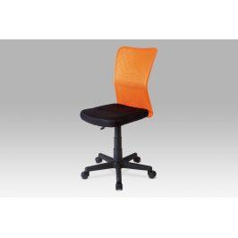 Dětská židle BORIS černá / oranžová