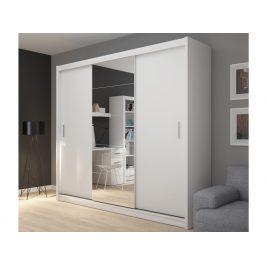 FADO skříň se zrcadlem 235, bílá