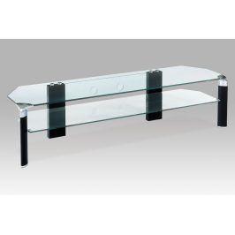 Autronic TV stolek ATV-019 BK černé nohy / čiré sklo