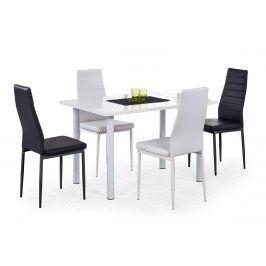 Jídelní stůl ADONIS, bílý lesk