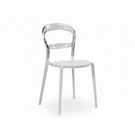 Židle K-100, bílá/čirá