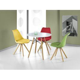 Halmar Jídelní stůl PROMETHEUS kulatý, bílá/buk