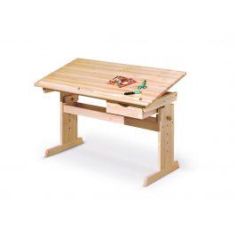 Dětský psací stůl JULIA, lakovaná borovice