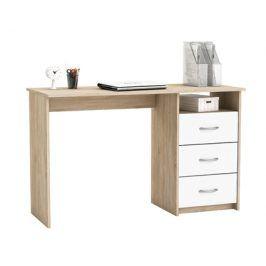 ARISTOTE, psací stůl, dub sonoma/bílá