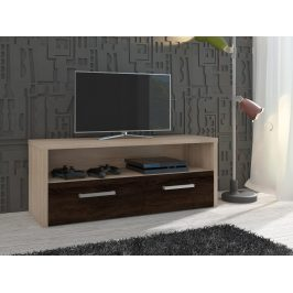 MORAVIA FLAT TV stolek TIRANA, dub sonoma/dub sonoma tmavý Stolky pod TV