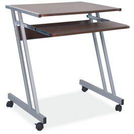 PC stůl B-233, ořech/kov