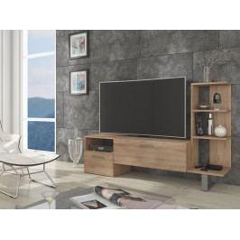 MORAVIA FLAT BEST televizní stolek, dub sonoma světlý
