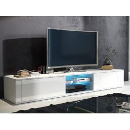 TV stolek HIT, bílá/bílý lesk Stolky pod TV