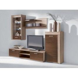 Smartshop VITO PLUS, obývací stěna, dub sonoma/dub čokoláda