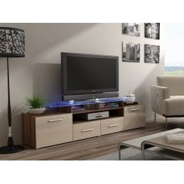 CAMA Televizní stolek RTV EVORA, švestka/krémový lesk Stolky pod TV