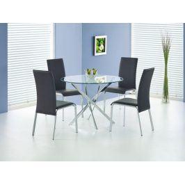 Jídelní stůl RAYMOND, kov/sklo