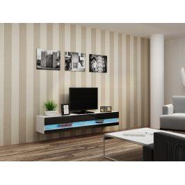 CAMA Televizní stolek VIGO NEW, bílá/černý lesk Stolky pod TV