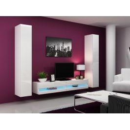 Obývací stěna VIGO NEW 4, bílá/bílý lesk