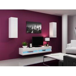 Obývací stěna VIGO NEW 10, bílá/bílý lesk