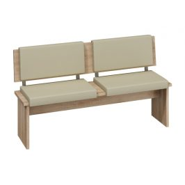 BOND, lavice velká, dub sonoma sv./béžová ekokůže