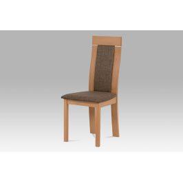 Jídelní židle BC-3921 BUK3, buk, potah hnědý