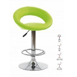Barová židle ZH-15, zelená