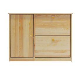 Dřevěný botník  90 x 29 x 80 cm masiv borovice