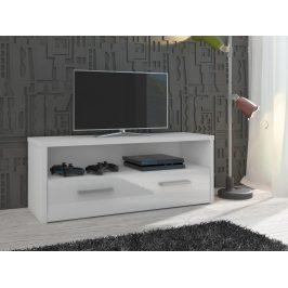 TV stolek TIRANA, bílá/bílý lesk Stolky pod TV