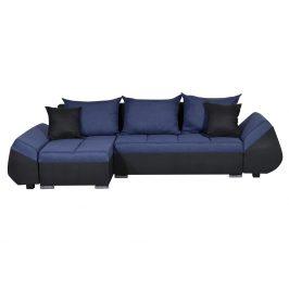 Smartshop Rohová sedačka KORFU 6, modrá/černá