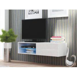 Halmar LIVO RTV-120W televizní stolek visící, bílá