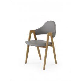 Jídelní židle JK-247 šedá/dub medový