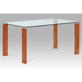 Autronic Jídelní stůl BT-6750 TR2, třešeň/sklo