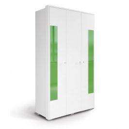 HAPPY, skříň 220 03V2F, bílá/zelená