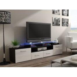 CAMA Televizní stolek RTV EVORA, wenge/bílý lesk