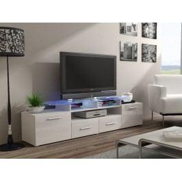 CAMA Televizní stolek RTV EVORA, bílá/bílý lesk
