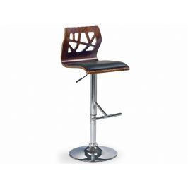 Barová židle ZH-34, ořech/černá