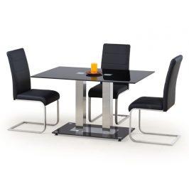 Jídelní stůl WALTER 2, kov/sklo