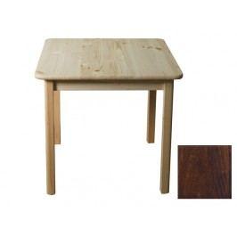 MAGNAT Stůl 70 x 70 cm nr.2, masiv borovice/moření ořech